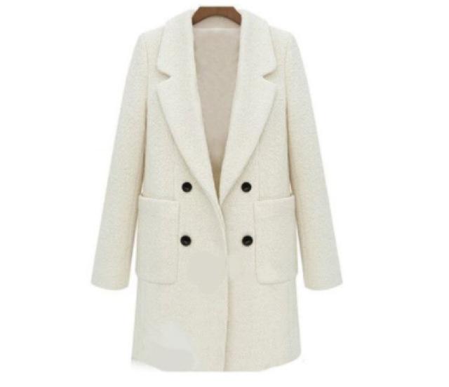 abrigo blanco de paño